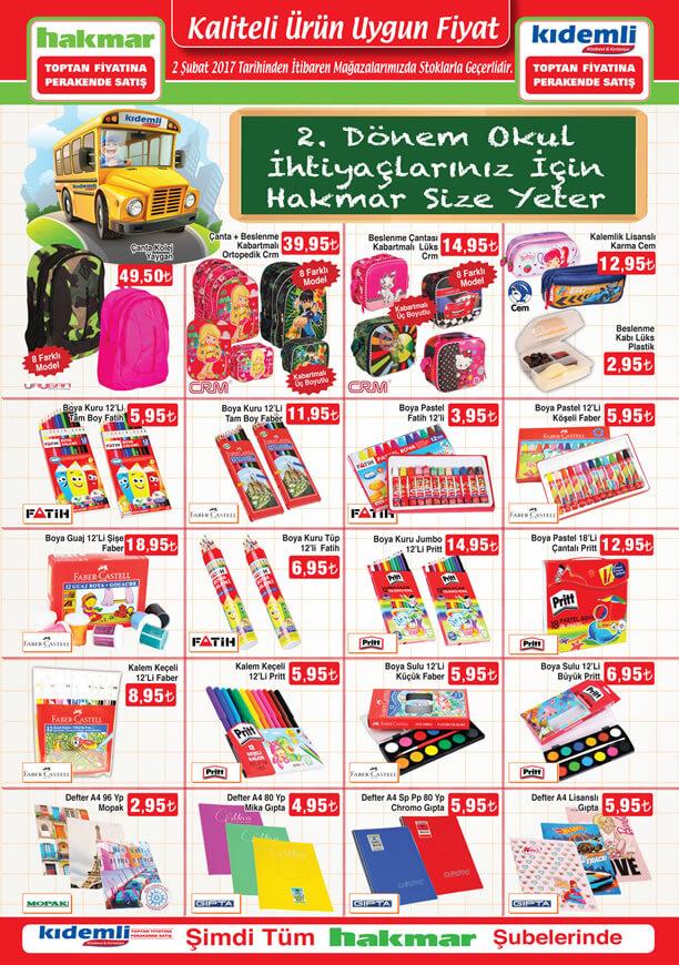 HAKMAR 2 Şubat 2017 Katalogu - Okul Malzemeleri