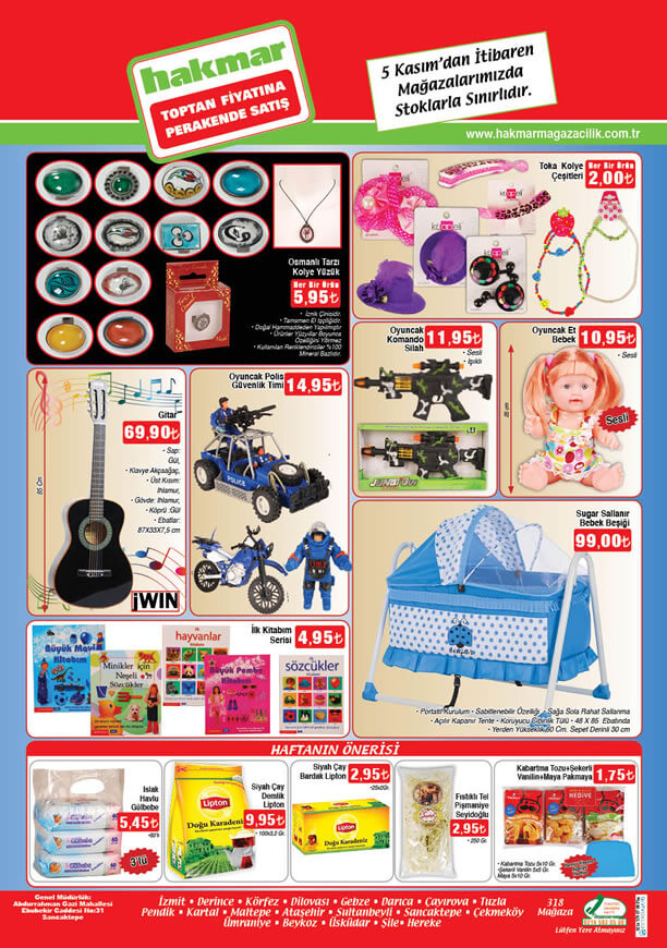 HAKMAR 5 Kasım 2015 Fırsat Ürünleri Katalogu - Sallanır Bebek Beşiği