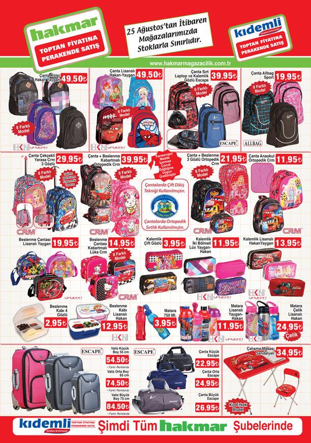 HAKMAR Aktüel 25 Ağustos 2016 Katalogu - Okul Çantası