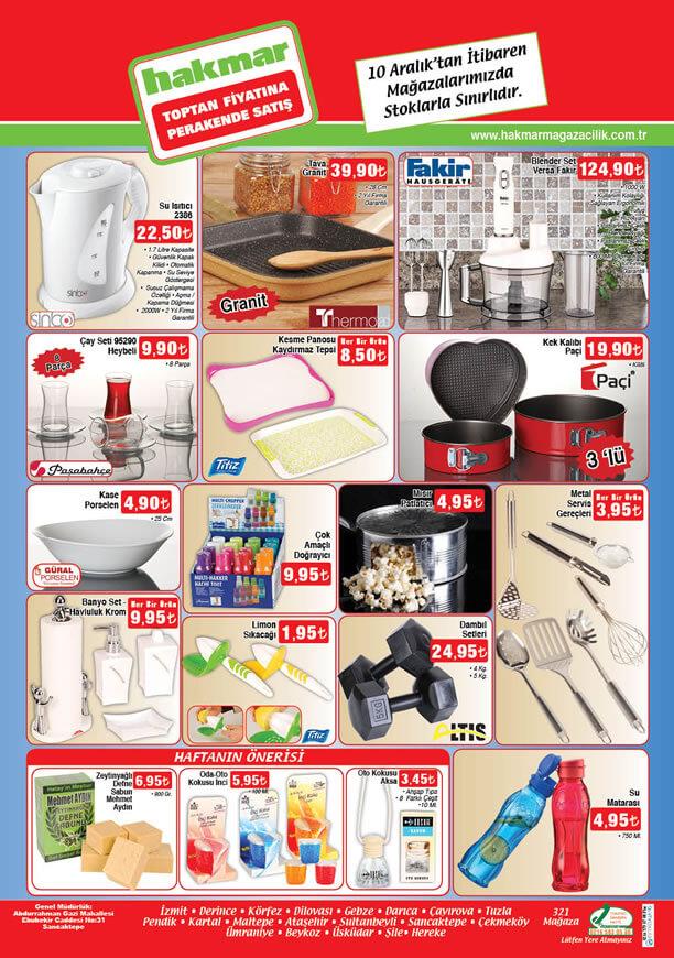 HAKMAR Aktüel Ürünler 10 Aralık 2015 Katalogu - Sinbo Su Isıtıcı