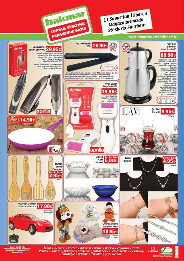 HAKMAR Aktüel Ürünler 11 Şubat 2016 Katalogu - Inox Çay Seti