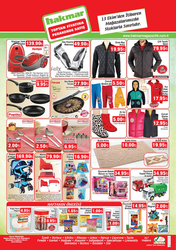HAKMAR Aktüel Ürünler 13 Ekim 2016 Katalogu - Mama Sandalyesi
