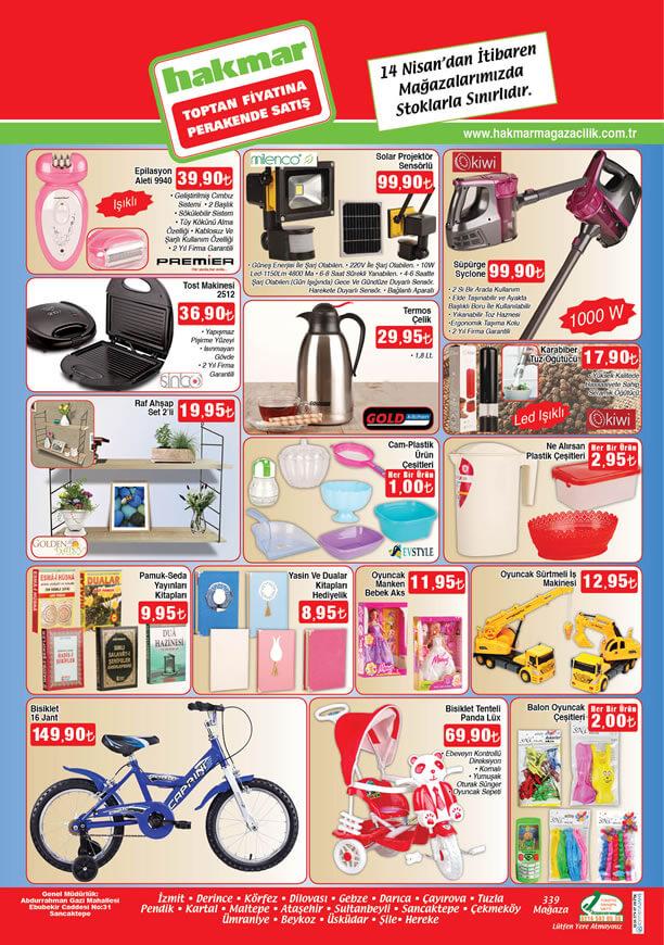 HAKMAR Aktüel Ürünler 14 Nisan 2016 Katalogu - Kiwi Syclone Süpürge