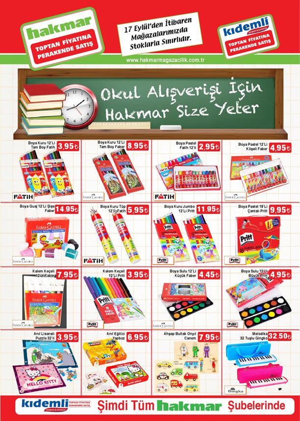 HAKMAR Aktüel Ürünler 17 Eylül 2015 Katalogu - Okul Malzemeleri