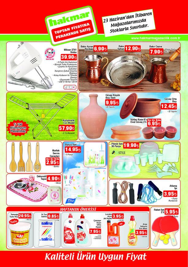 HAKMAR Aktüel Ürünler 23 Haziran 2016 Katalogu - Sinbo Mikser