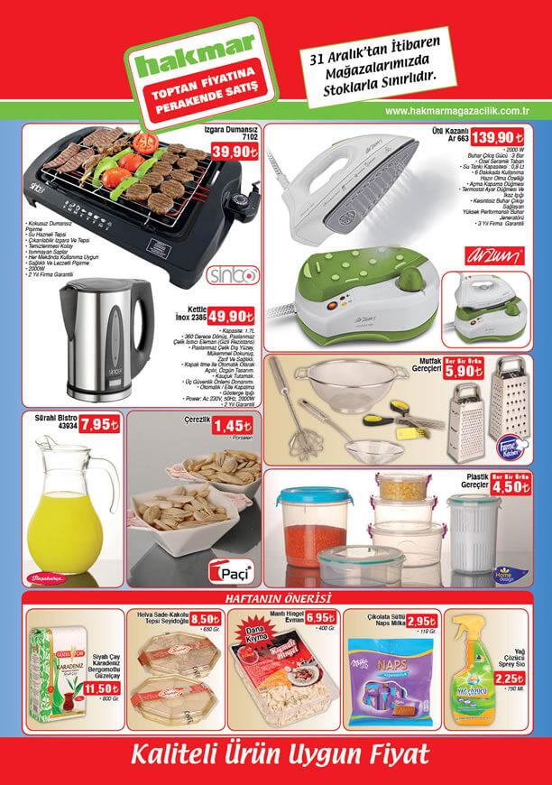 HAKMAR Aktüel Ürünler 31 Aralık 2015 Broşürü - Sinbo Dumansız Izgara