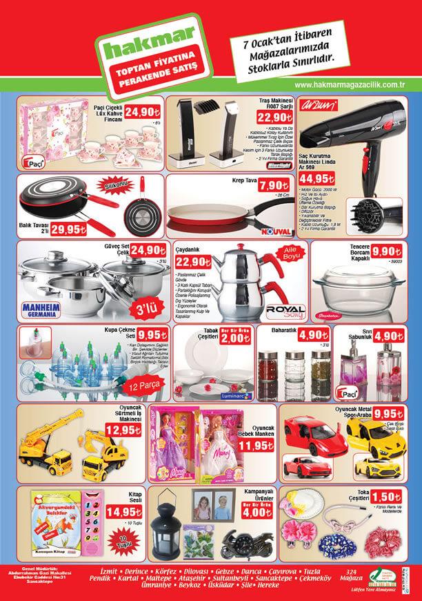 HAKMAR Aktüel Ürünler 7 Ocak 2016 Broşürü - Arzum Linda
