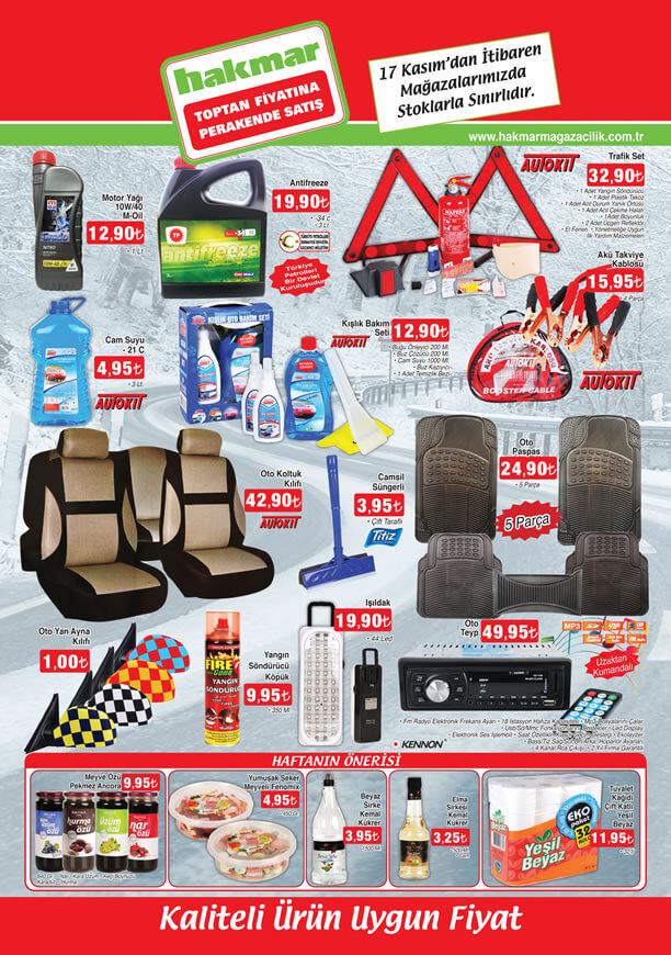 HAKMAR Fırsat Ürünler 17 Kasım 2016 Katalogu - Kennon Oto Teyp