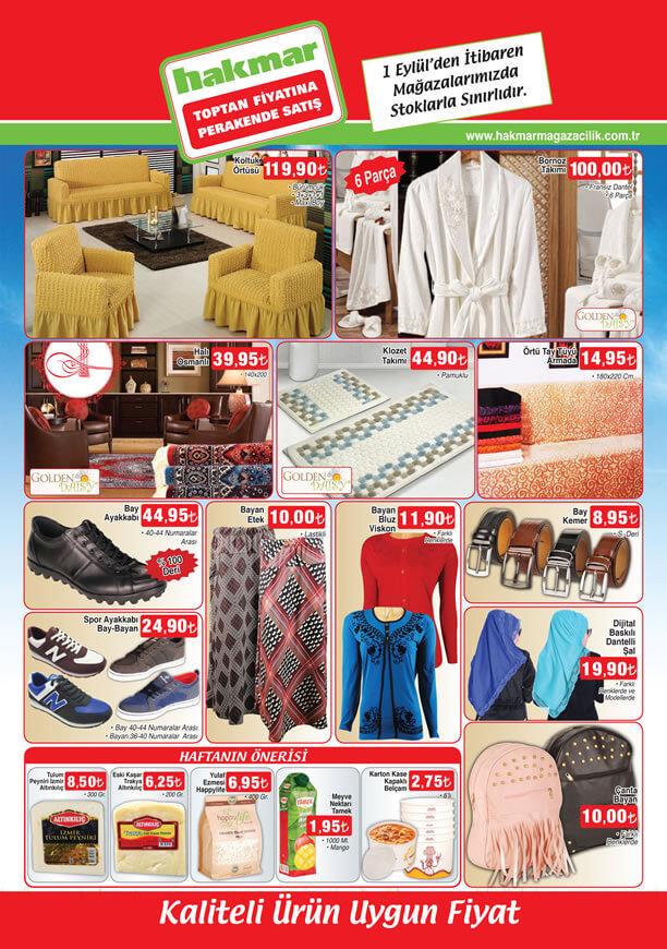HAKMAR Fırsat Ürünleri 1 Eylül 2016 Katalogu - Koltuk Örtüsü