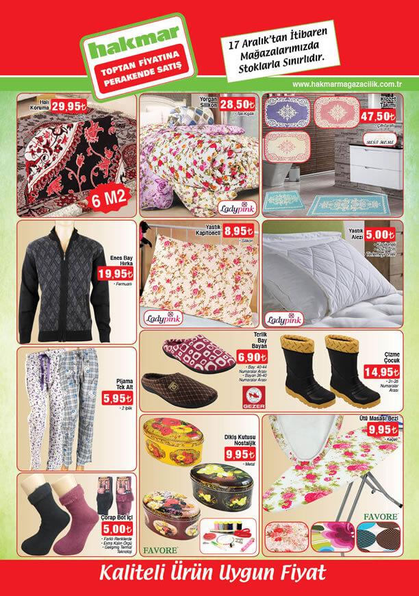 HAKMAR Fırsat Ürünleri 17 Aralık 2015 Broşürü - Halı Koruma