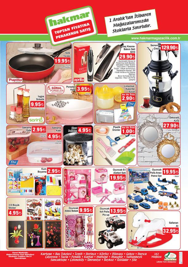 HAKMAR Market 1 Aralık 2016 Katalogu - Semaver Çaycı
