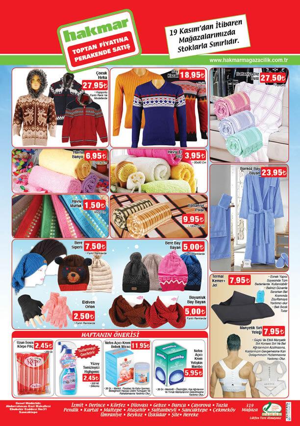 HAKMAR Market 19-25 Kasım 2015 İndirimleri - Ev Tekstili