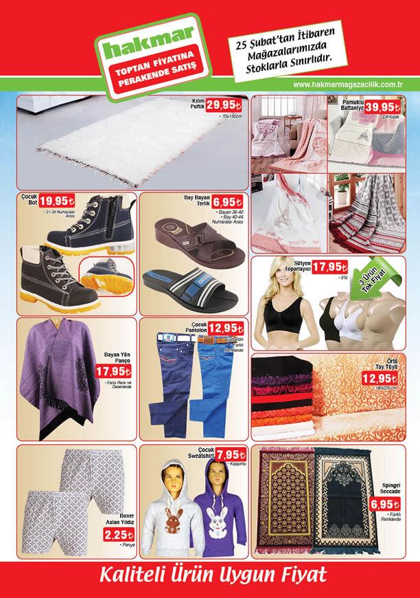 HAKMAR Market 25 Şubat 2016 Broşürü - Pamuklu Battaniye