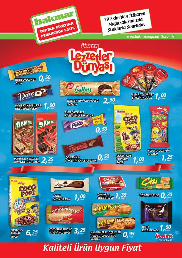 HAKMAR Market 29 Ekim 2015 Aktüel Ürünler - Ülker