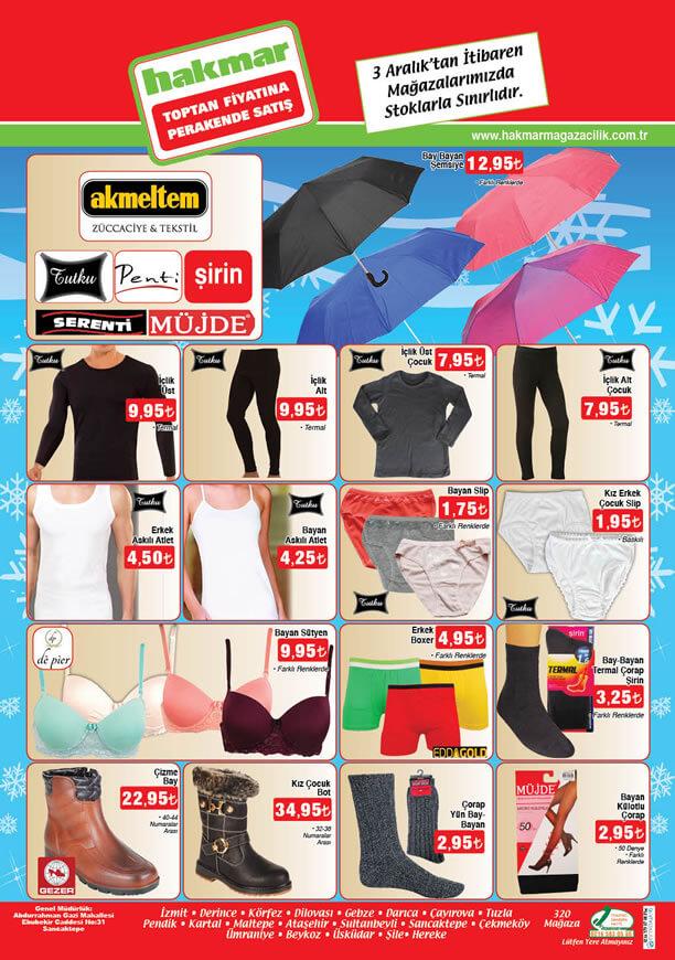 HAKMAR Market 3 Aralık 2015 Fırsatları - Şemsiye