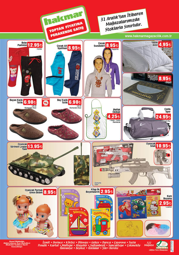 HAKMAR Market 31 Aralık 2015 Katalogu - Spor Çanta