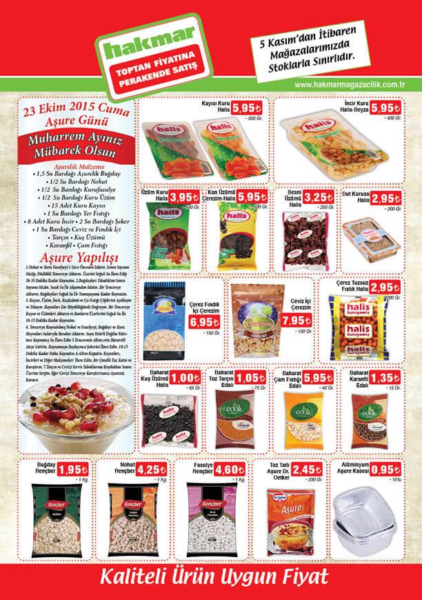 HAKMAR Market Aktüel Ürünler 5 Kasım 2015 Broşürü - Aşurelik Ürünler
