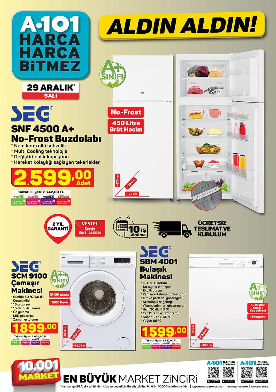 SEG Buzdolabı, çamaşır ve bulaşık makinesi