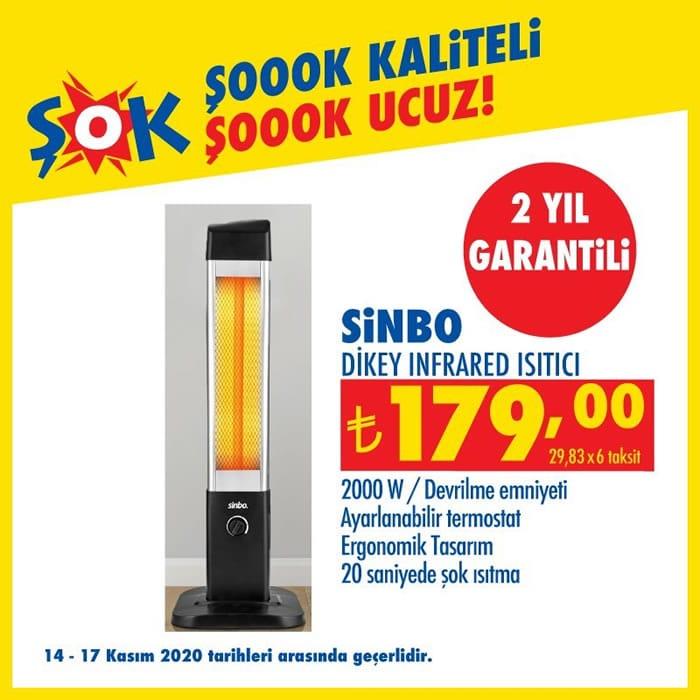 Sinbo dikey infrared ısıtıcı