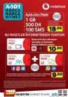A101 Vodafone Aylık Altın Paket 18 TL - Ağustos 2018