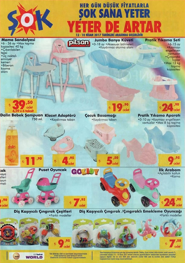 ŞOK 12 Nisan 2017 Katalogu - Pilsan Mama Sandalyesi