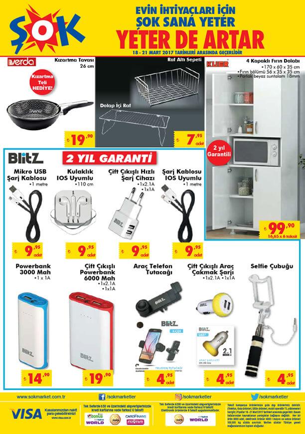 ŞOK Market 18 Mart 2017 Katalogu - Blitz Powerbank
