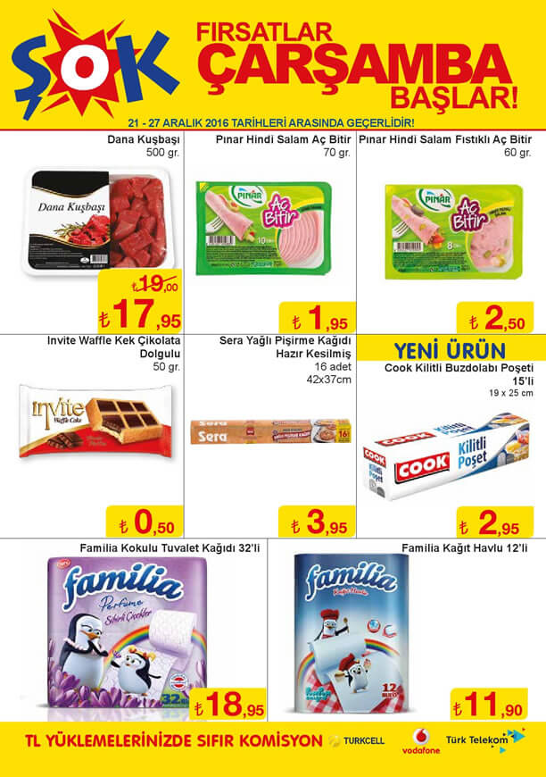 ŞOK Market 21.12.2016 Katalogu - Pınar Aç Bitir Hindi Salam