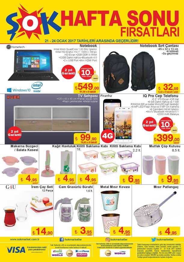 ŞOK Market 21 Ocak 2017 Katalogu - Hometech Notebook