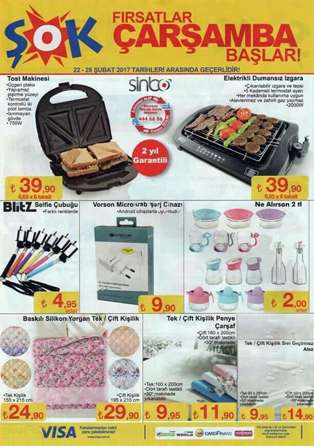 ŞOK Market 22 Şubat 2017 Katalogu - Sinbo Tost Makinesi