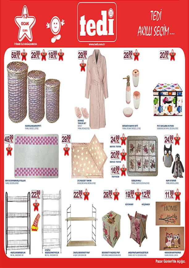 TEDİ 13 Ocak 2017 Katalogu - Hasır Çamaşır Sepeti