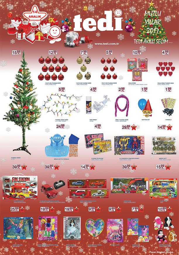 TEDİ 14 Aralık 2016 Katalogu - Yılbaşı Ağacı