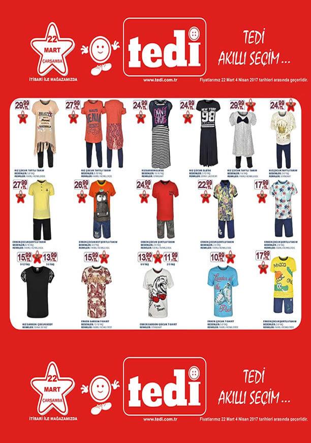 TEDİ Aktüel 22 Mart 2017 Katalogu - Çocuk Giyim