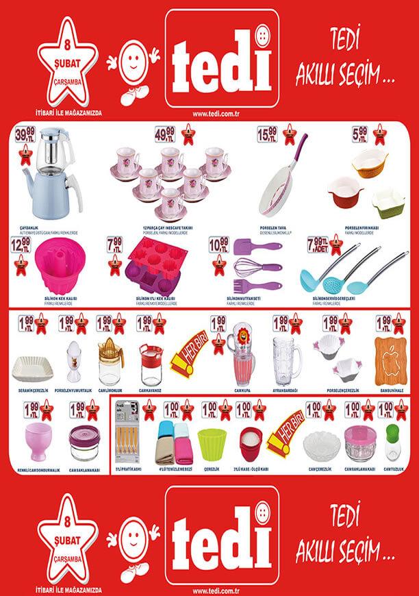 TEDİ Aktüel 8 Şubat 2017 Katalogu - Mutfak Ürünleri