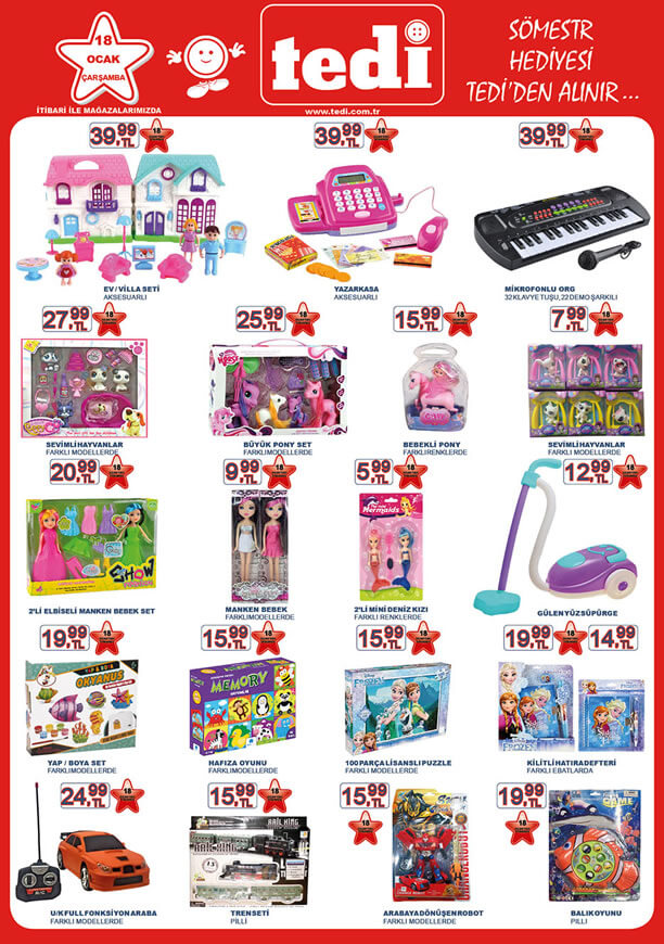 TEDİ Market 18 Ocak 2017 Katalogu - Mikrofonlu Org