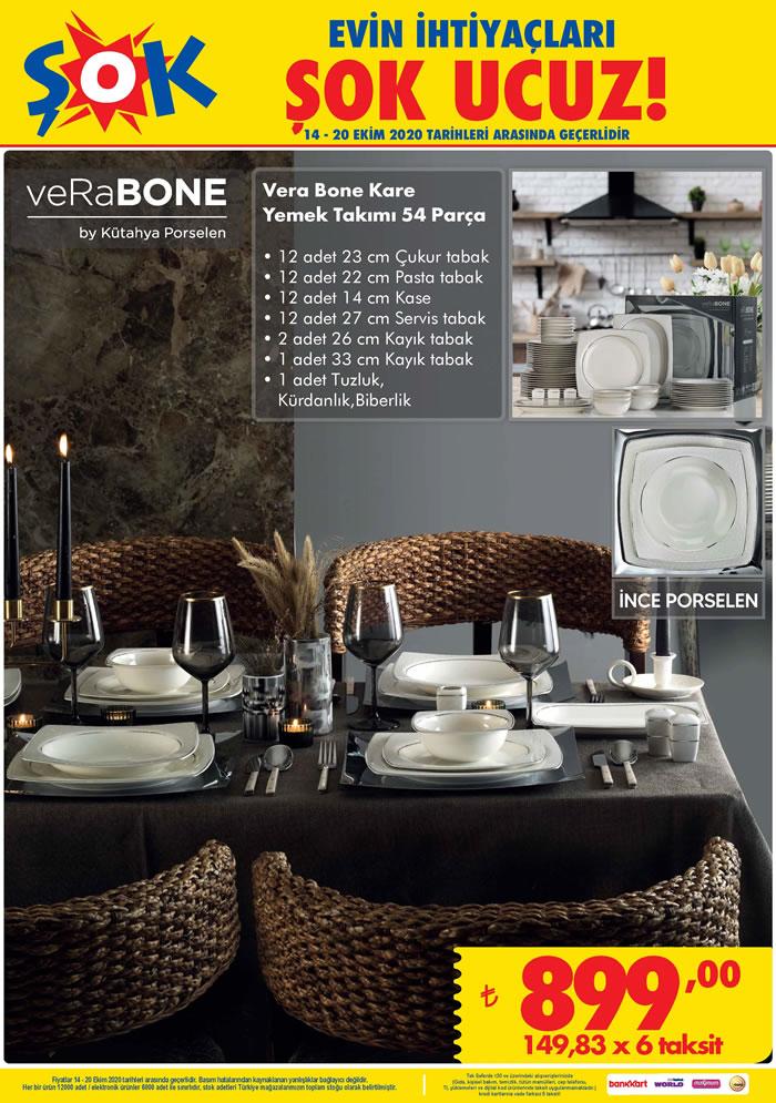Vera Bone 54 Parça Kare Yemek Takımı