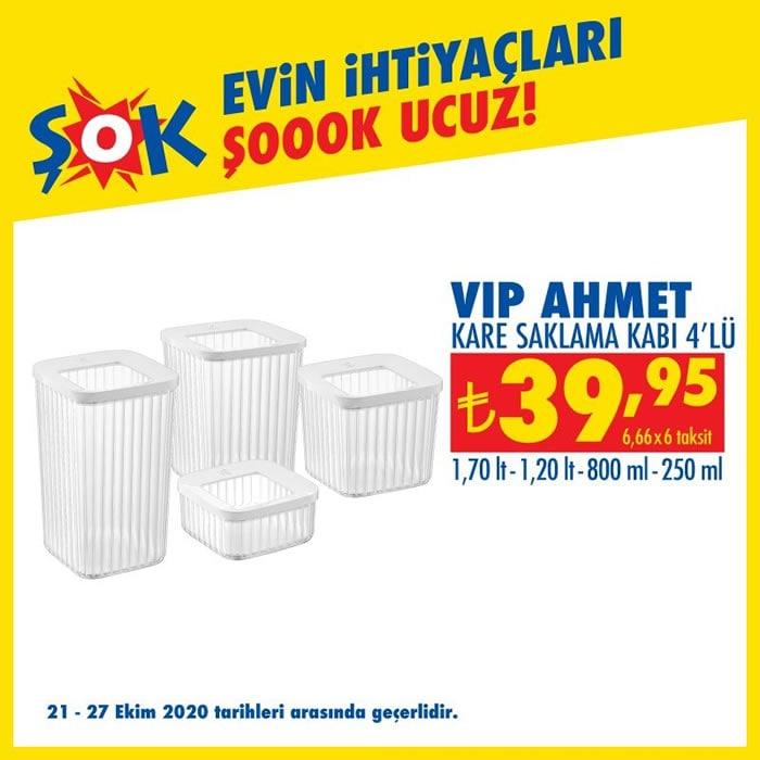 Vip Ahmet 4lü Kare Saklama Kabı