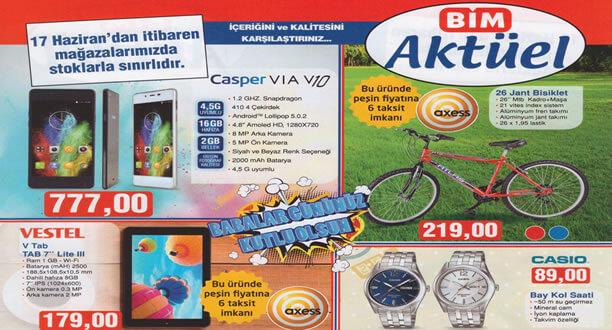 BİM 17 Haziran 2016 Aktüel Ürünler Katalogu