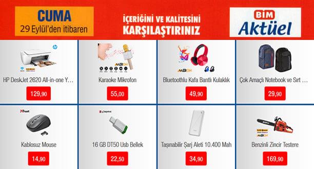 BİM 29 Eylül 2017 Aktüel Ürün Kampanyası
