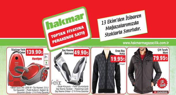 HAKMAR 13 Ekim 2016 Aktüel Ürünler Katalogu