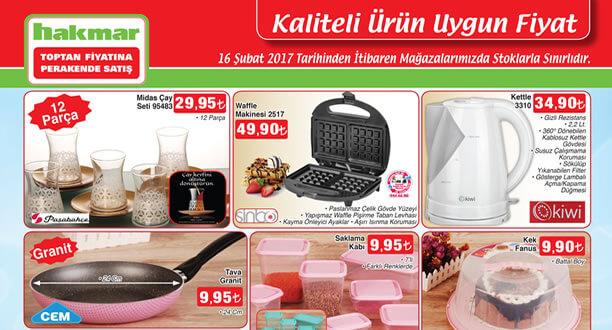 HAKMAR 16 Şubat 2017 Aktüel Ürünler Katalogu