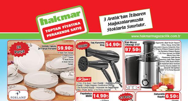 HAKMAR 3 Aralık 2015 Aktüel Ürünler Katalogu