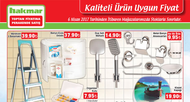 HAKMAR 6 Nisan 2017 Aktüel Ürünler Katalogu