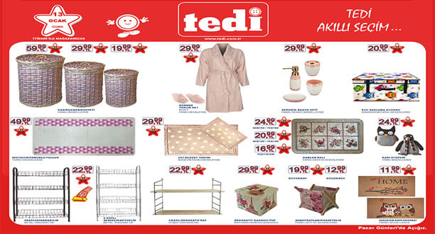TEDİ 13 Ocak 2017 Aktüel Ürünler Katalogu
