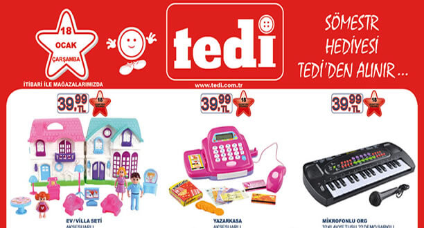 TEDİ 18 Ocak 2017 Aktüel Ürünler Katalogu