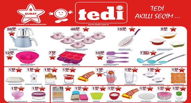 TEDİ 8 Şubat 2017 Aktüel Ürünler Katalogu